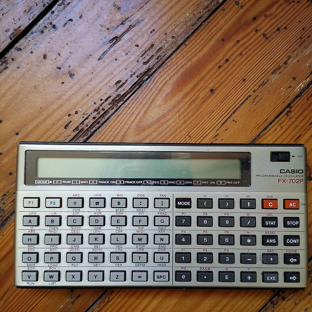 #casio #vintage #fx702p #calculator